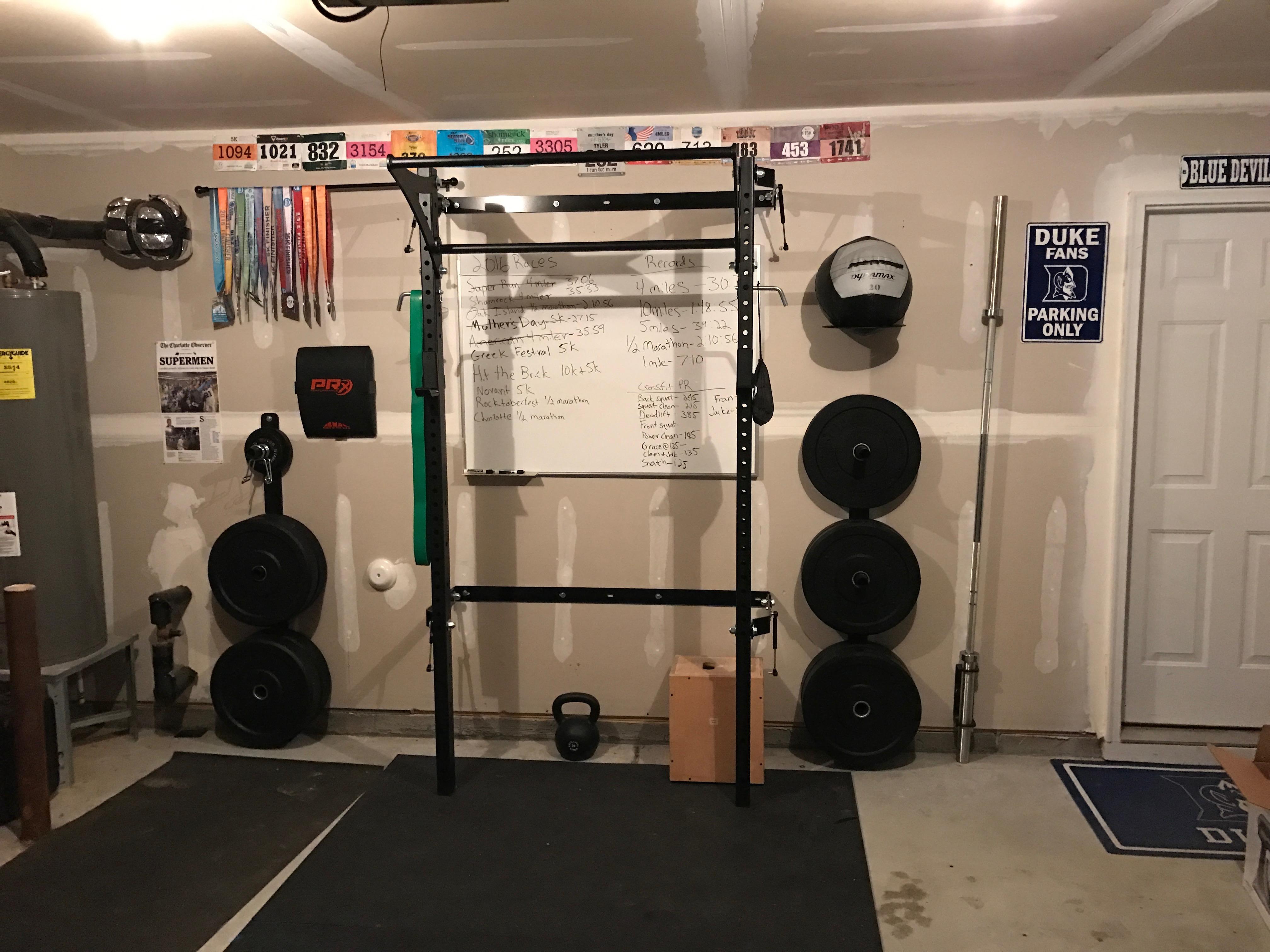 Diy affordable dry erase board crossfit garage garage gym